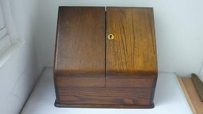 Antique Oak Stationary Box 19th century