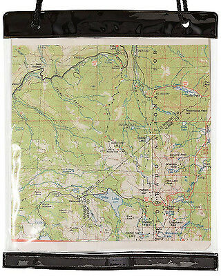 Yellowstone PVC Clear Waterproof Camping Hiking Transparent Map Case Holder Bag