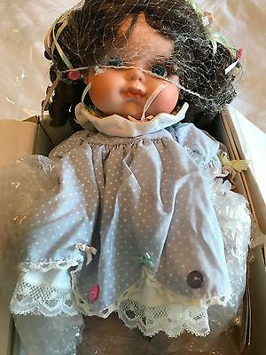 """""""Buttons and Bows"""" Porcelain Doll"""
