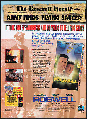 ROSWELL : The UFO Cover-Up__Original 1994 Trade AD movie promo__KYLE MACLACHLAN