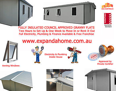 High Profit Australia Wide Franchise Business Opportunity Granny Flat Market