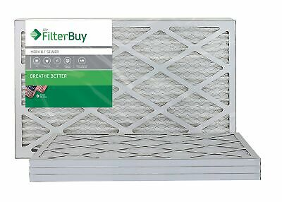FilterBuy AFB MERV 8 16x25x1 Pleated AC Furnace Air Filter, (Pack of 4 Filters),