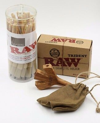 RAW Pre-Rolled King size Cones  With Raw Trident( 50 Pack and Trident)