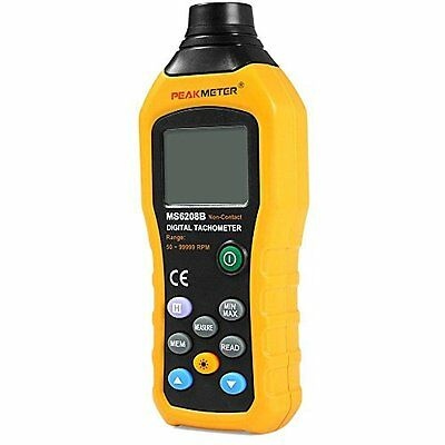 Protmex MS6208B 50-250mm Non-contact Measurement Digital Tachometer With 100 Gro