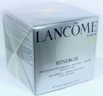 LANCOME RENERGIE  ANTI-WRINKLE-FIRMING TREATMENT 50ml Creme & ORIGINAL VERPACKT