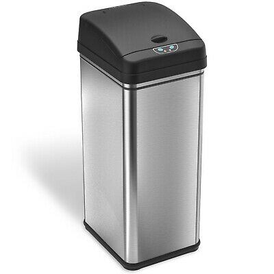 iTouchless Deodorizer Automatic Sensor Touchless Trash Can, 49 Liter / 13 Gallon
