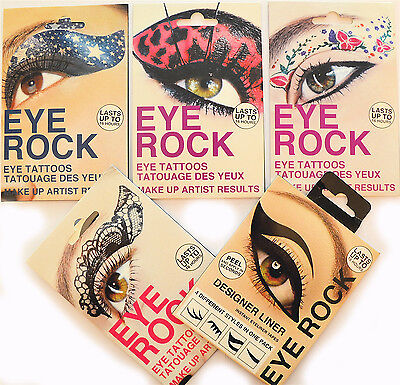TRANSFER EYE ROCK TEMPORARY TATTOO FACE STICKER ART great as PARTY accessories