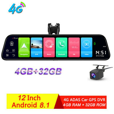 "7"" 3G Special Car DVR Camera Mirror Android 5 with Wifi bluetooth GPS Dash Cam"