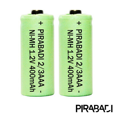 2 PILE ACCU BATTERIE 2/3AAA RECHARGEABLE 400mAh 1.2V NIMH NI-MH PKCELL