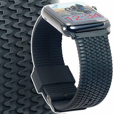 iWatch XL Black Silicone Strap Space Adapters Series 1,2 Apple Watch Band 42mm