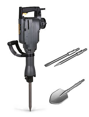 TR Industrial TR89100 Electric Demolition Jackhammer with Point, Flat and Spade