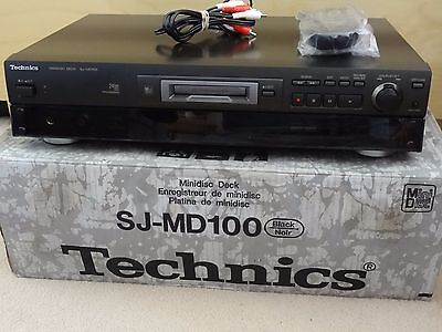 Technics Sj-Md100 Black Minidisc Deck Player Recorder Remote Boxed Working