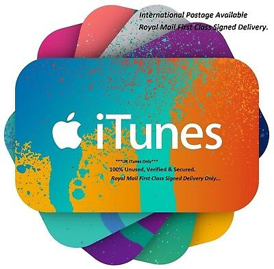 iTunes Gift Card £15 GBP Apple iTunes Code £15 UK /ONLY FIRST CLASS Signed POST