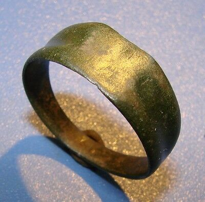Ancient bronze  ring  Middle Ages original.