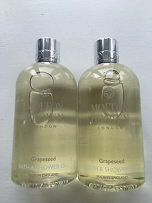 BRAND NEW Molton Brown Grapeseed Bath & Shower Gel 2 * 300ml (600ml total)
