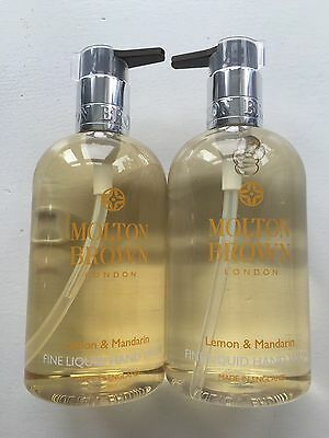Molton Brown 2 x 300ml Lemon & Mandarin Fine Liquid Hand Wash BRAND NEW