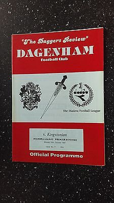 Dagenham V Kingstonian 1991-92