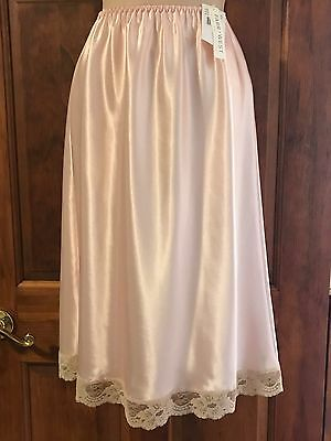 New With Tags Pink Farr West Satin Slip ~ Size XL Extra-Largel  25""