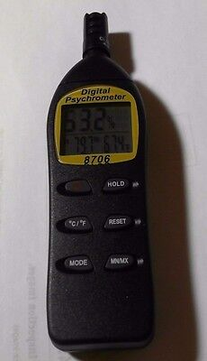 Digital Psychrometer With Calibration Feature Ep8706 Unused