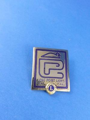 Lions Club Canada Long Point Duck Goose Ontario  Pin Pinback Collector Button