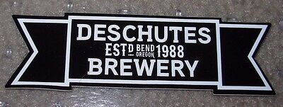 DESCHUTES BREWERY Classic Ribbon Logo STICKER decal craft beer brewing ABYSS