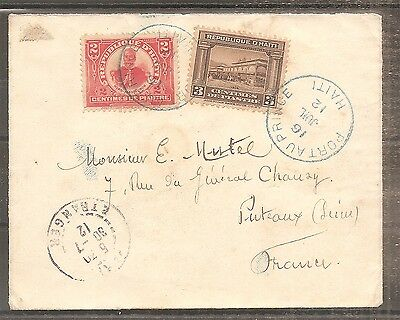 Lettre Cover Haiti 16/07/1912 Used Port Au Prince To France