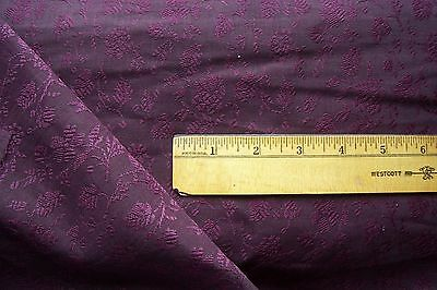 Vtg Antique 1800's  19C STUNNING Regal VICTORIAN Wool Challis Doll Dress Fabric