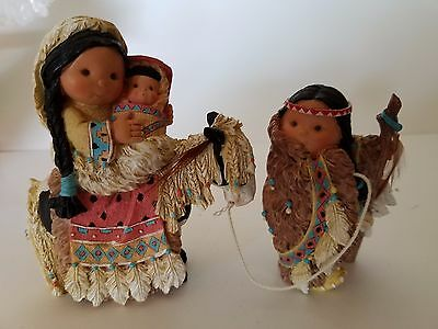 """chosen People"" Mary Holding Jesus W?joseph Friends Of The Feather Figurines"