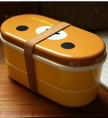 Rilakkuma Bento Box,with chopsticks and rubber strap (mit Essstäbchen)