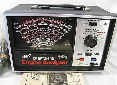 Sears Craftsman Engine Analyzer Solid State Electronic Tester #161.210400 w/ Man