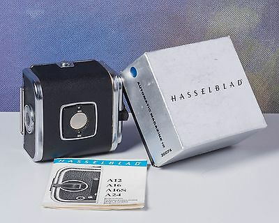 Hasselblad A12 Film Back 30074, 12 6x6 Exposures, with Box & Instructions