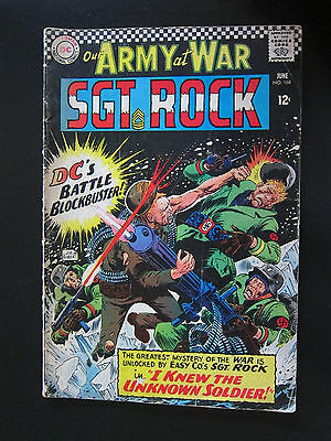 Our Army at War #168 (Jun 1966, DC) Unknown Solider First Appearance