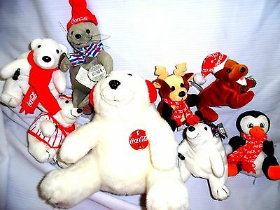 Coca Cola Collectible Bean Bag Plush Beanie Toys Set (Set of 8)