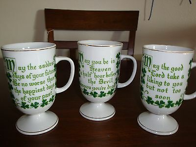 Vintage St. Patricks Day Cups (4) All Different