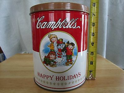 Vintage Campbells Happy Holidays Soup Tin 1993 w/Free Shipping