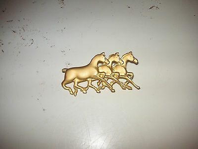 Vintage Running Horses Pin Wild Stallion Equestrian Jewelry pin brooch