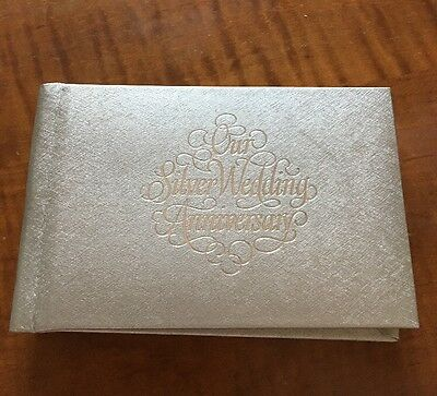 Photo Album For Silver Wedding Anniversary Holds 3 X 5 Photos