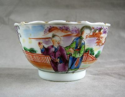 Qianlong Period Porcelain Chinese Export Famille Rose Tea Bowl c.1770