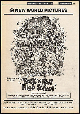 ROCK n ROLL HIGH SCHOOL__Original 1979 Cannes Trade AD promo_poster__THE RAMONES