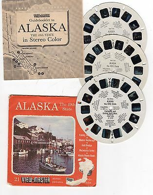 View-Master - ALASKA - The 49th State, A101, 3 reels & Insert - see Photo