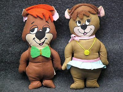 "Vintage 1972  Knickerbocker 6 1/2""  Yogi Bear's Boo Boo/Cyndi Bears Plush Dolls"