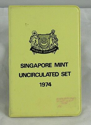Singapore 1974 Uncirculated Coin Set In Mint Folder