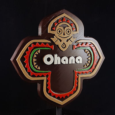 Polynesian Themed Longhouse Sign / Plaque - Ohana ( Disney Resort Inspired )