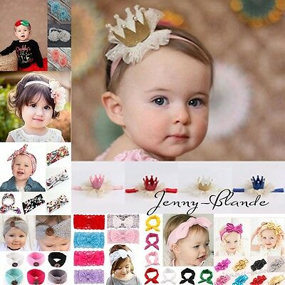 Infant Baby Boy/Girls Elastic Bow Hairband Headband Hair Band Headwrap Headdress