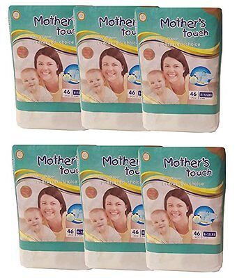 Mother's Touch Disposable Diaper Economy Pack Plus- Size 1 (Small) : 6 Bags/Pack