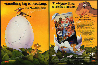 THE LAND BEFORE TIME__Original 1989 Trade Print AD__video movie promo__Don Bluth
