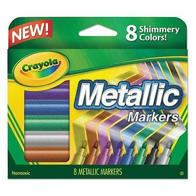 Crayola 588628 Metallic Markers, Assorted, 8/Set