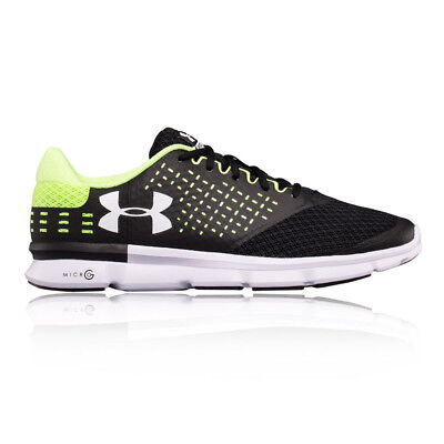 Under Armour Micro G Speed Swift 2 Mens Black Running Sports Shoes Trainers