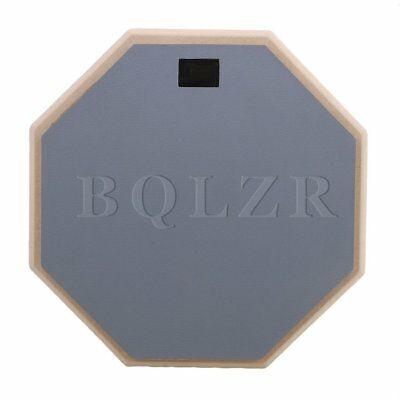 "BQLZR Gray 12"""" Rubber Double Side Drum Practice Pads Percussion Accessories"