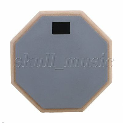 "BQLZR Gray 8"""" Rubber Double Side Drum Practice Pads Percussion Accessories"